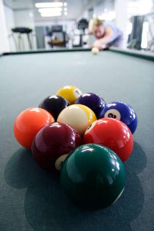 snooker room: Nove palla rack