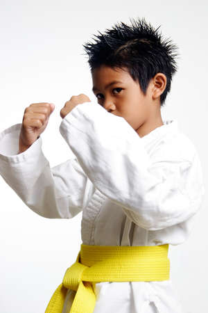 Young Karate Kid Stock Photo
