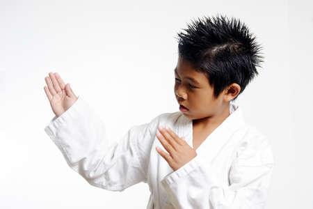 Karate Chop Stock Photo