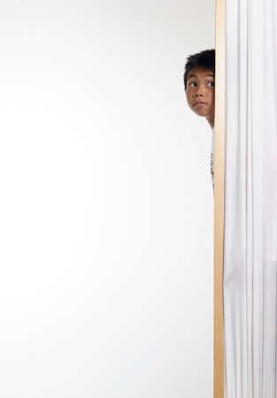 snoop: Curious Kid Stock Photo
