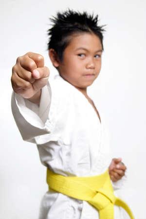 Karate Boys fist Stock Photo - 234937