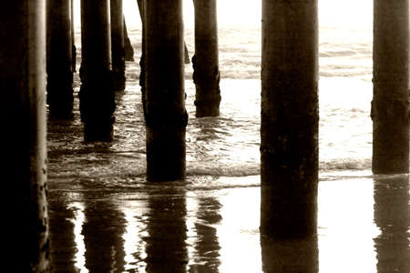 Pillars under the pier photo