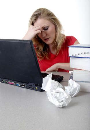 Student studying Stock Photo