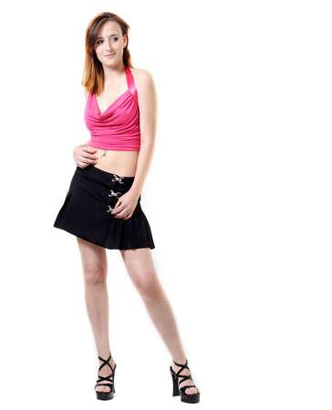 Young girl in modern fashion photo