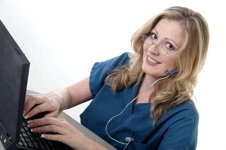 Medical receptionist photo