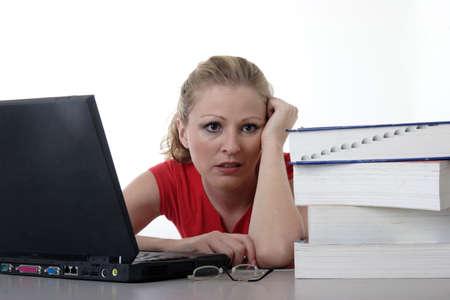 final thoughts: Overwhelmed girl doing homework