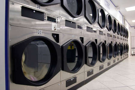 laundry room: row of dryers