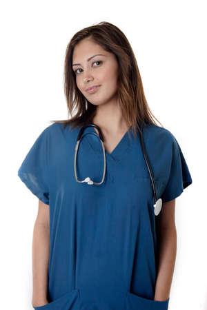 Young nurse in scrubs