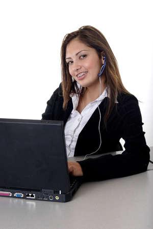 saleswomen: Friendly young receptionist