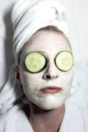 Woman gettin a facial