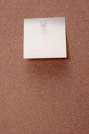 cork board: Blank paper on cork board Stock Photo