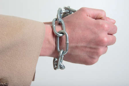 Hand chained up Stock Photo - 285527
