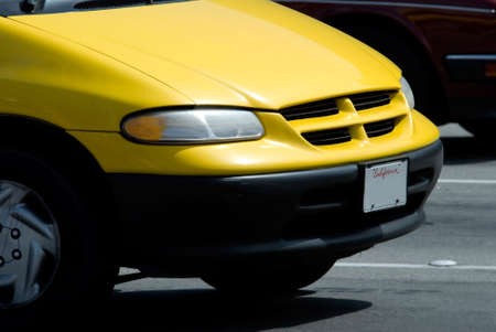 front end: front end of a yellow car