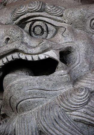 chinese sculptuur van dichtbij