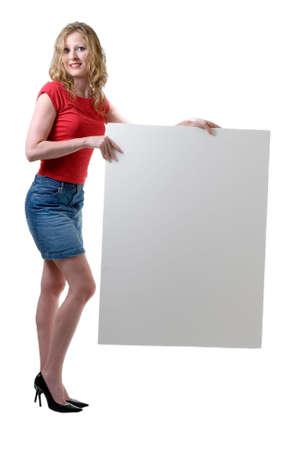 mini falda: Mujer celebraci�n signo permanente en blanco sobre blanco