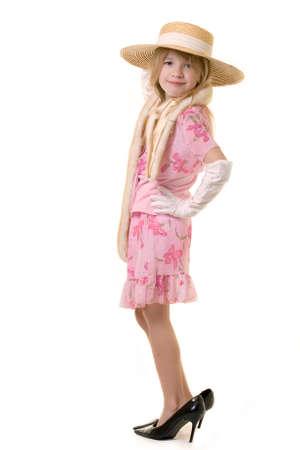 old year: cute piccolo otto guanti bianchi da portare della ragazza di anni ed alti pattini heeled troppo grandi