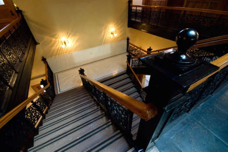 Interior stairway of old courthouse Banco de Imagens - 905871