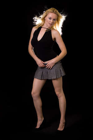 Sexy legs in mini skirt