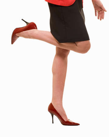 Sexy zaken vrouw benen en poten dragen hakken