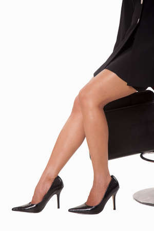 sexy asian woman: Legs of attractive businesswoman