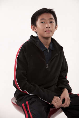 Young cute asian boy in his pre-teen Stock Photo - 6697346