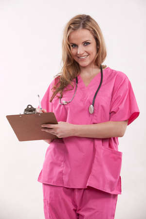 paramedical: Pretty Attractive beautiful twenties caucasian woman healthcare professional