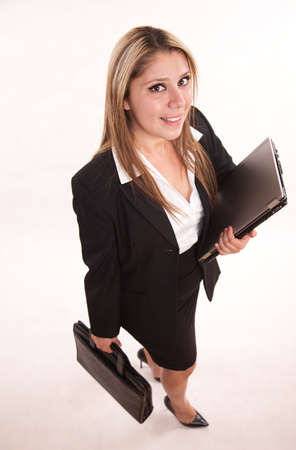 latina girl: Pretty attractive twenties hispanic business woman professional Stock Photo
