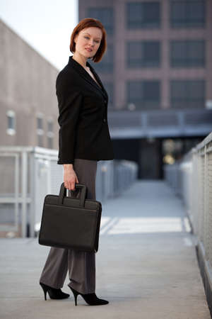 Caucasian businesswoman in outdoor setting Stock Photo - 12031136