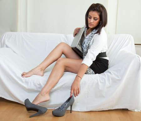 latina: Beautiful twenties hispanic brunette woman Stock Photo