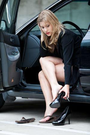 Beautiful blonde twenties businesswoman Stock Photo - 12068293