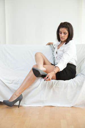 resting: Beautiful twenties hispanic woman