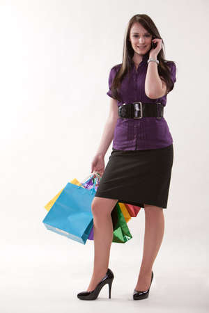Beautiful twenties caucasian brunette businesswoman