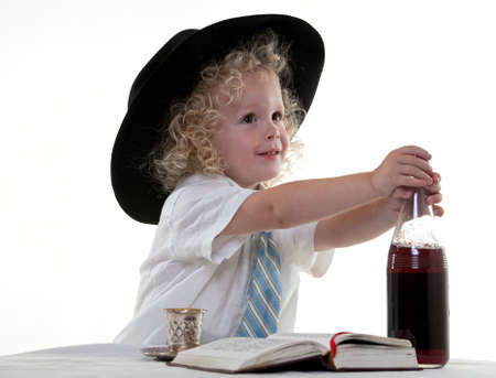 jew: Cute little toddler boy