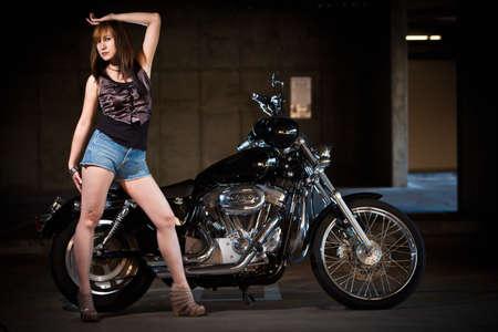motorrad frau: Attraktive Asiatisch Chinesisch vierziger Frau