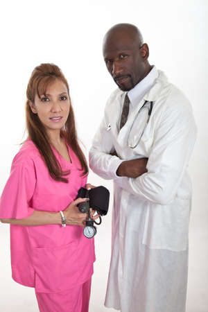 Multi racial healthcare workers team photo