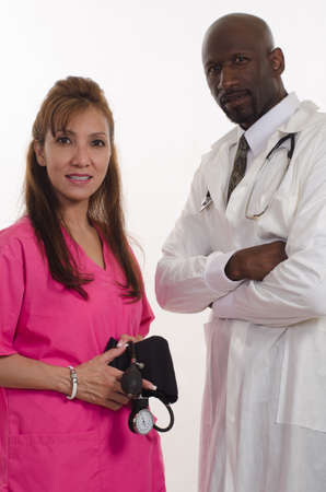 Multiracial medical team photo