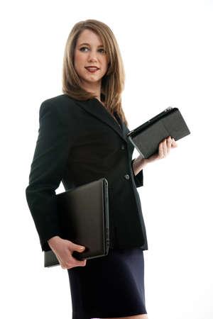 Beautiful blond caucasian business woman 版權商用圖片