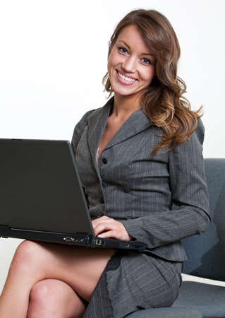 Pretty hispanic american businesswoman photo