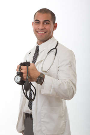 paramedical: Young attractive black medical doctor