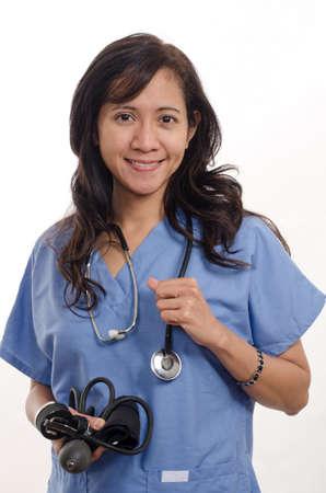 paramedical: Confident asian nurse doctor medical professional Stock Photo