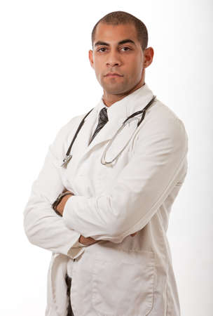 paramedical: Attractive black african american medical professional man