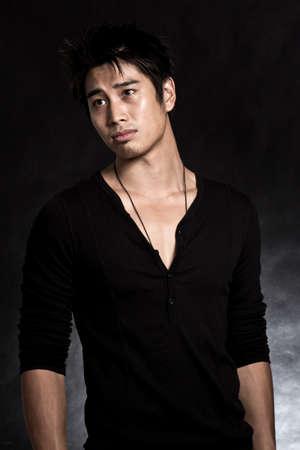 Handsome asian american man Stock fotó