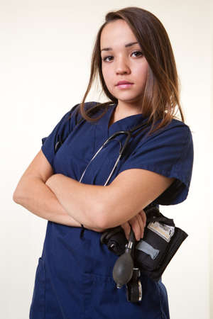 Young expressive russian caucasian woman healthcare worker Stock Photo - 17686598
