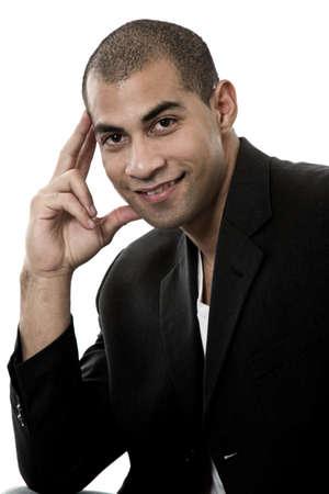 Attractive mix african american hispanic businessman Stock Photo - 17748219