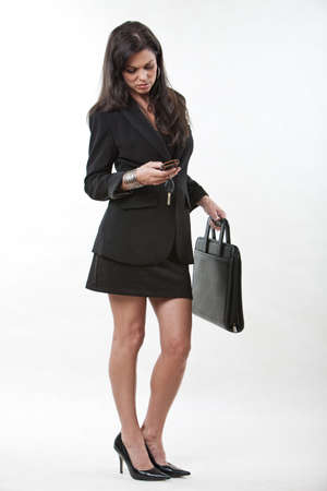 40s: Attractive forties caucasian businesswoman wearing suit Stock Photo