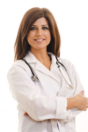paramedical: Attractive hispanic woman in her forties