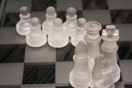 Chess pieces showing concept of teamwork