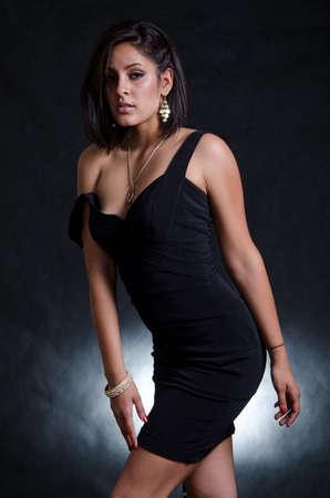 sexuality: Beautiful hispanic american fashion woman in her twenties