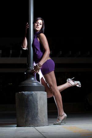 Beautiful hispanic american fashion woman in her twenties photo