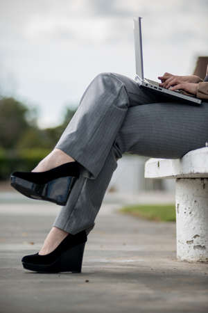 telecommuter: Young twenties caucasian career woman working remote